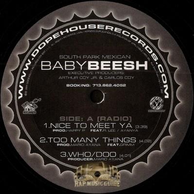 Baby Beesh - Nice To Meet Ya / Too Many Things / Who Doo