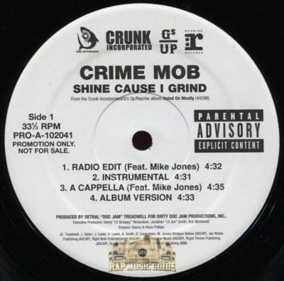 Crime Mob - Shine Cause I Grind