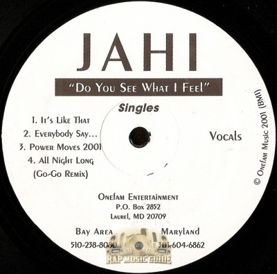Jahi - Do You See What I Feel