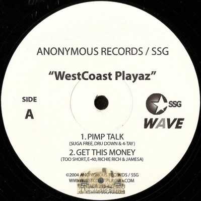 WestCoast Playaz - Pimp Talk / Coast To Coast