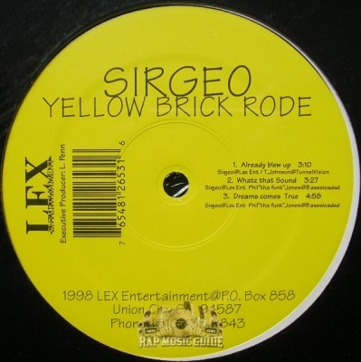 Sirgeo - Yellow Brick Rode EP