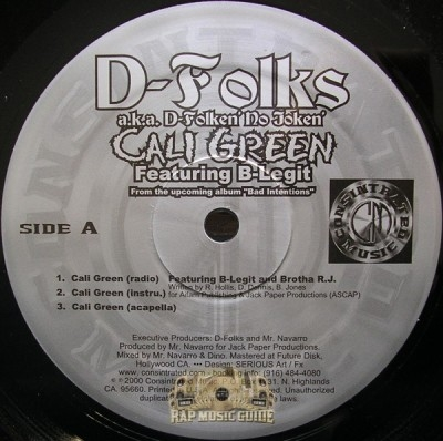 D-Folks - Cali Green