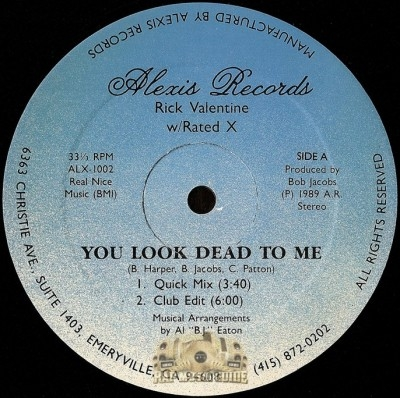 Rick Valentine - You Look Dead To Me