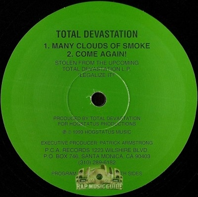 Total Devastation - Many Clouds Of Smoke / Come Again!
