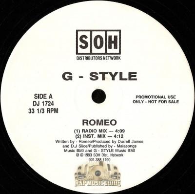 G-Style - Romeo / Gangsta