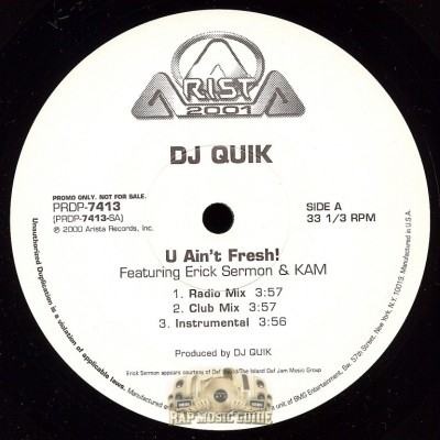 DJ Quik - U Ain't Fresh/ Speak On It