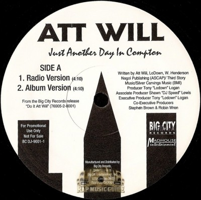 Att Will - Just Another Day In Compton