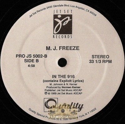 MJ Freeze - I Be Sidin' EP